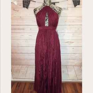 Lulus Keyhole Evening Maxi Dress Open Back Size S